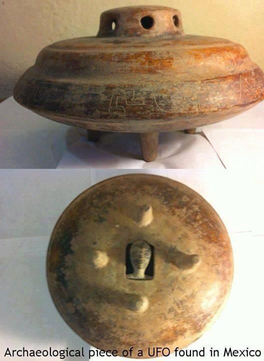 z Archaeological piece of a UFO found in Mexico